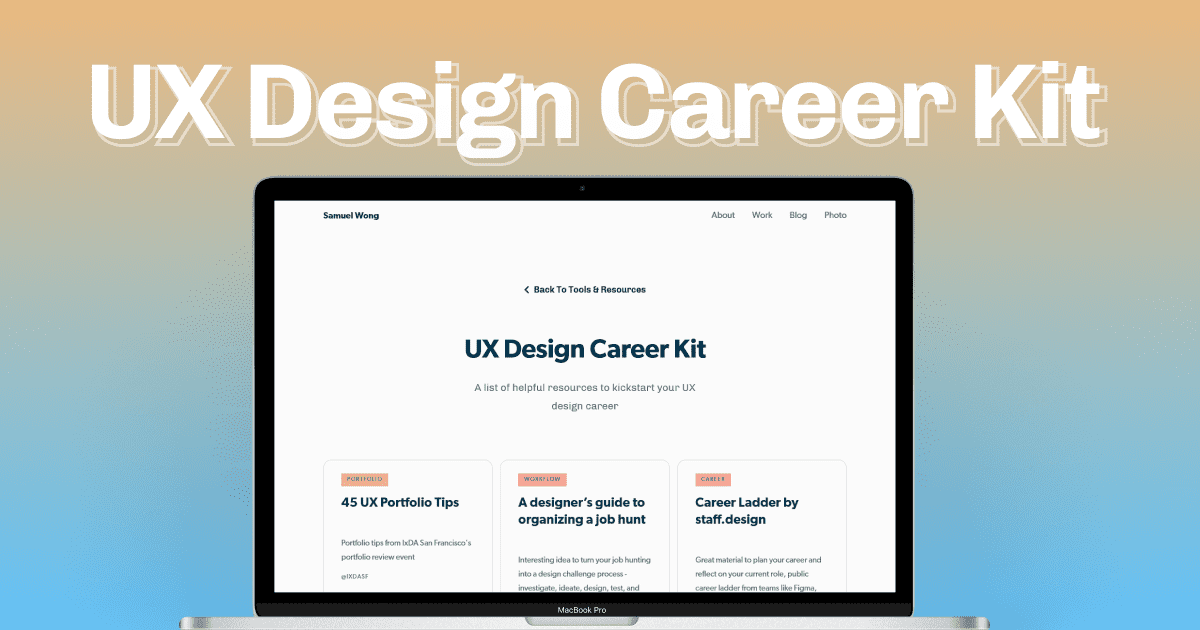 UX Design Career Kit
